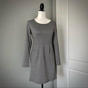 PAPILLON Geo Print Long Sleeved Dress